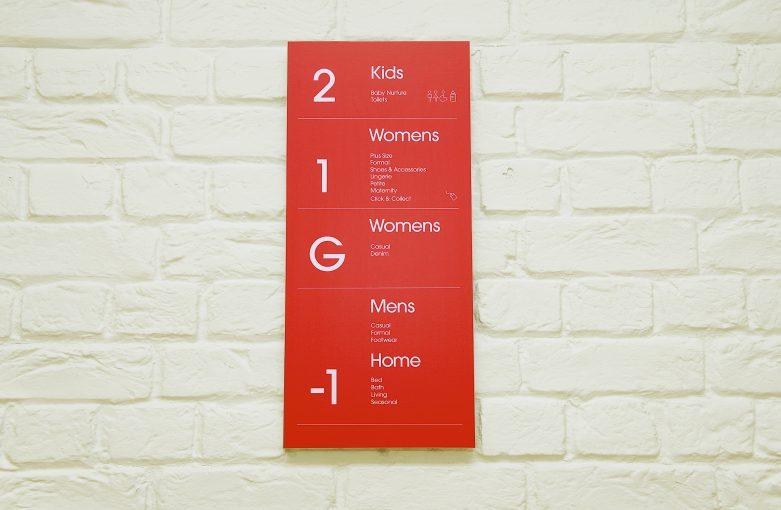 Matalan Cardiff internal signage design