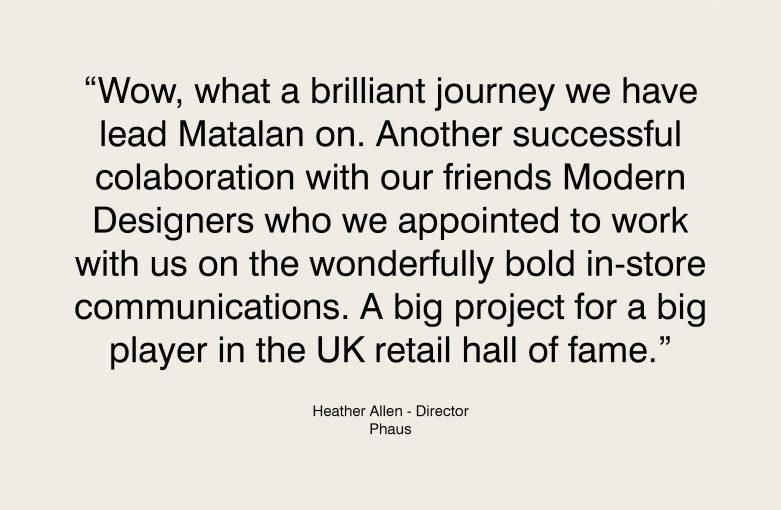 Matalan Testimonial by Heather Allen - Phaus Designers