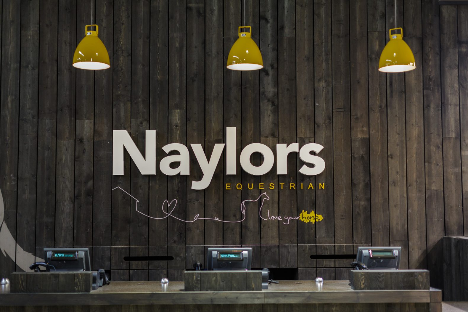 Naylors Equestrian Lighting Design Signage