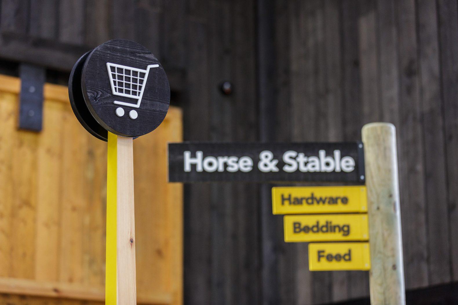 Naylors Equestrian Retail Design Signage