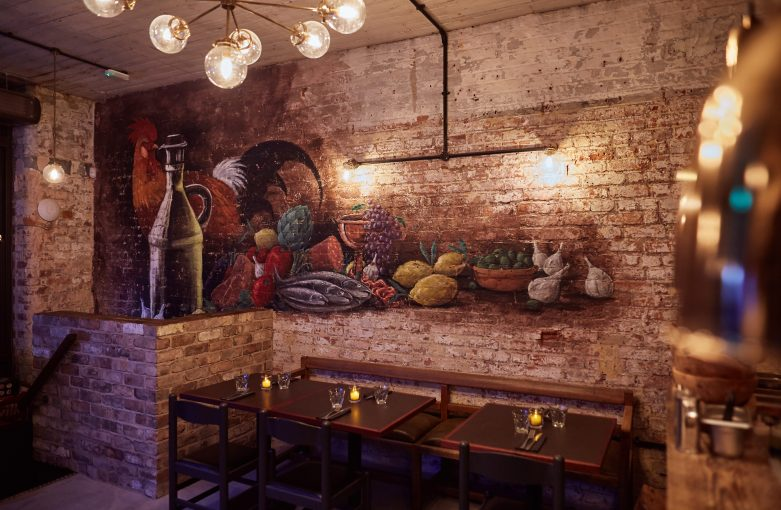 Tre Ciccio Altrincham Restaurant Interior Mural