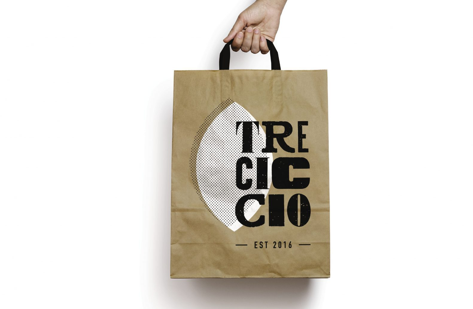 Tre Ciccio Branding for Takeaway Bag by Phaus