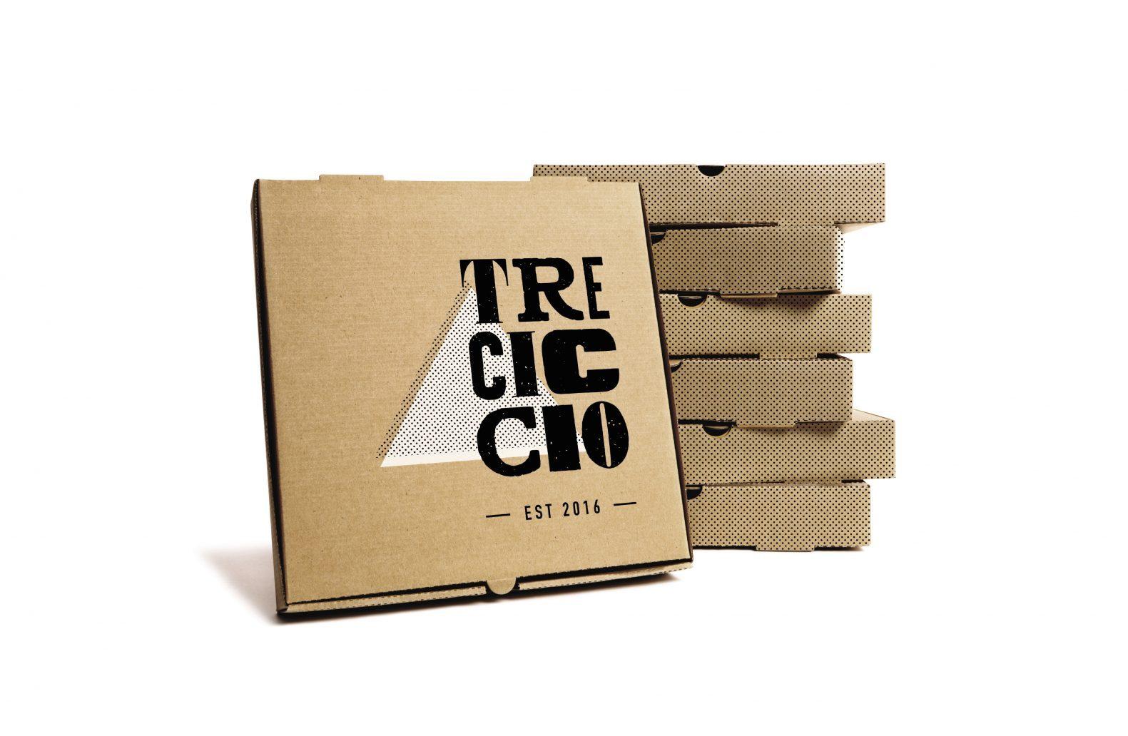 Tre Ciccio Pizza Box Design by Phaus
