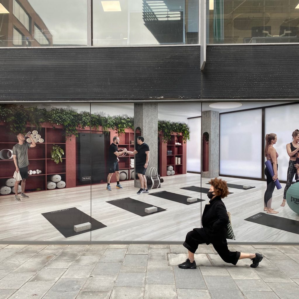 CGI window vinyls at The Plaza in Liverpool
